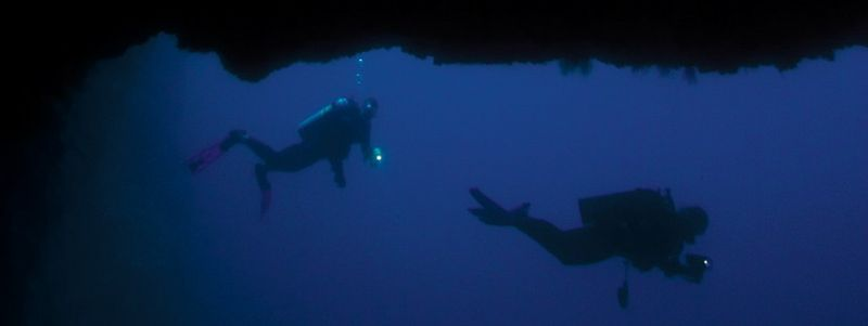 divers below